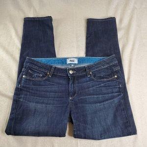 PAIGE Jimmy Jimmy Low Rise Dark Wash Skinny Jeans